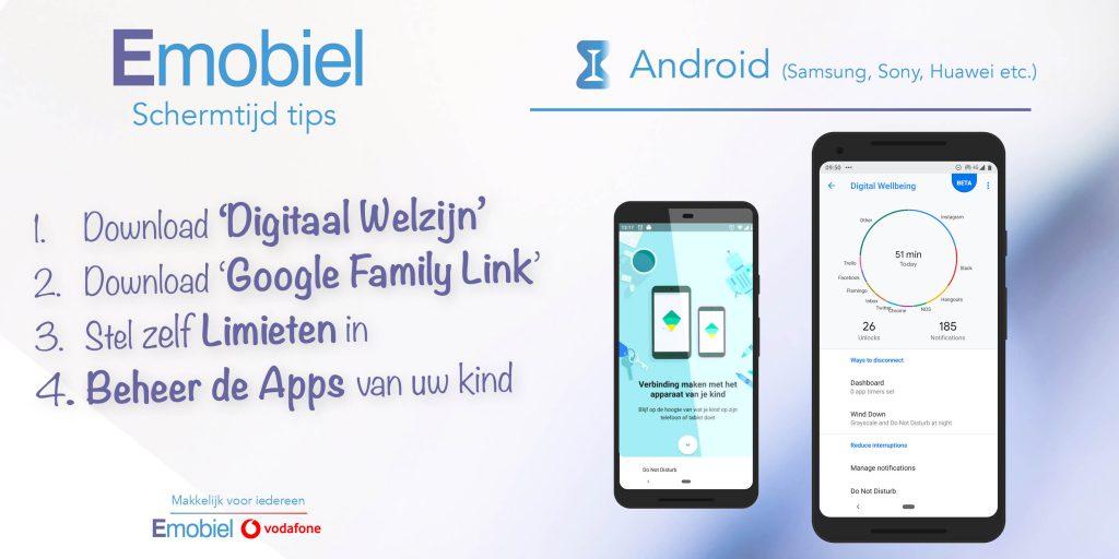 Emobiel Schermtijd tips Android