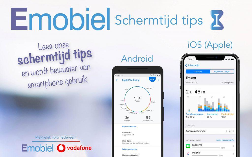 Emobiel schermtijd tips voor iOS en Android