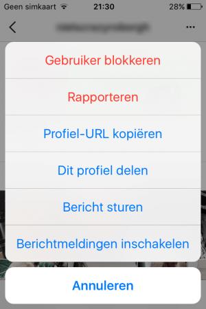 blokkeren instagram - Emobiel Veilig Online